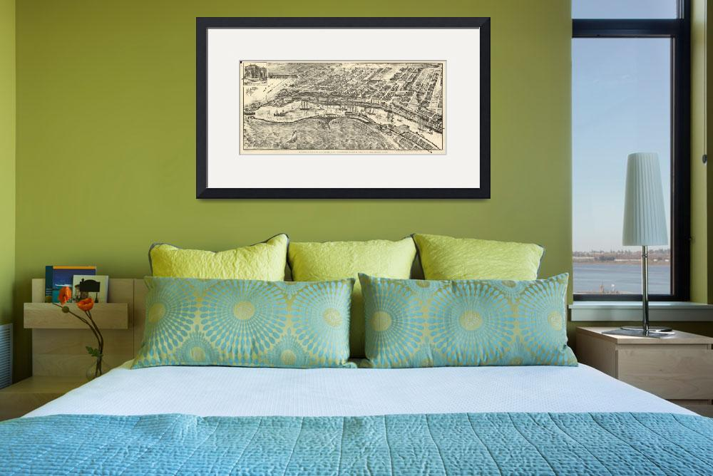 """Vintage Map of San Pedro California (1902)&quot  by Alleycatshirts"