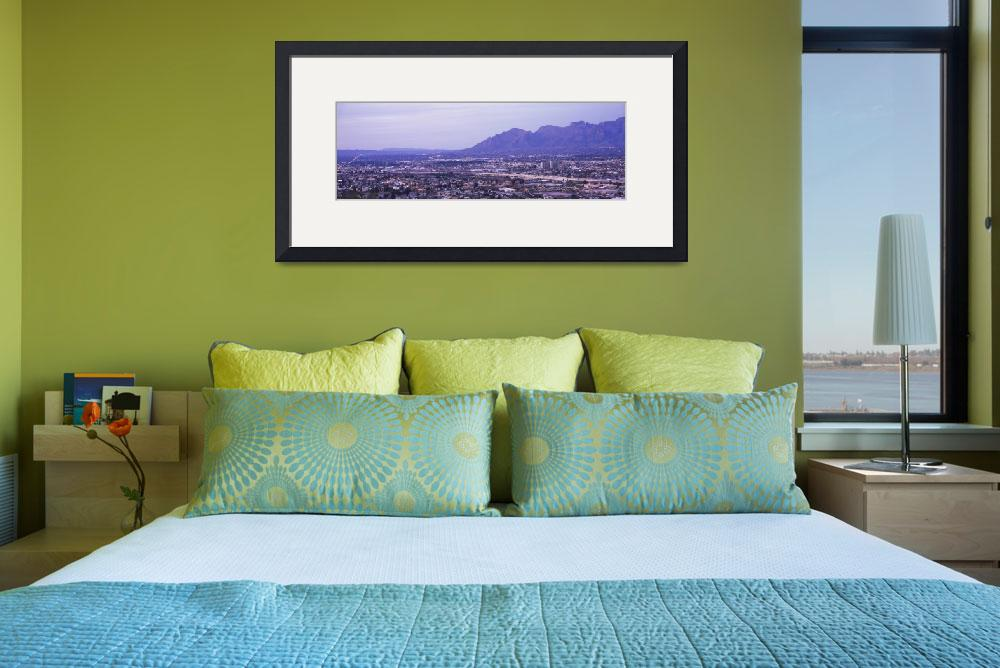 """Aerial view of a city Tucson Pima County Arizona&quot  by Panoramic_Images"