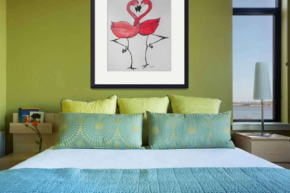 """Flamingos in Love&quot  (2012) by MichaelBPatterson"