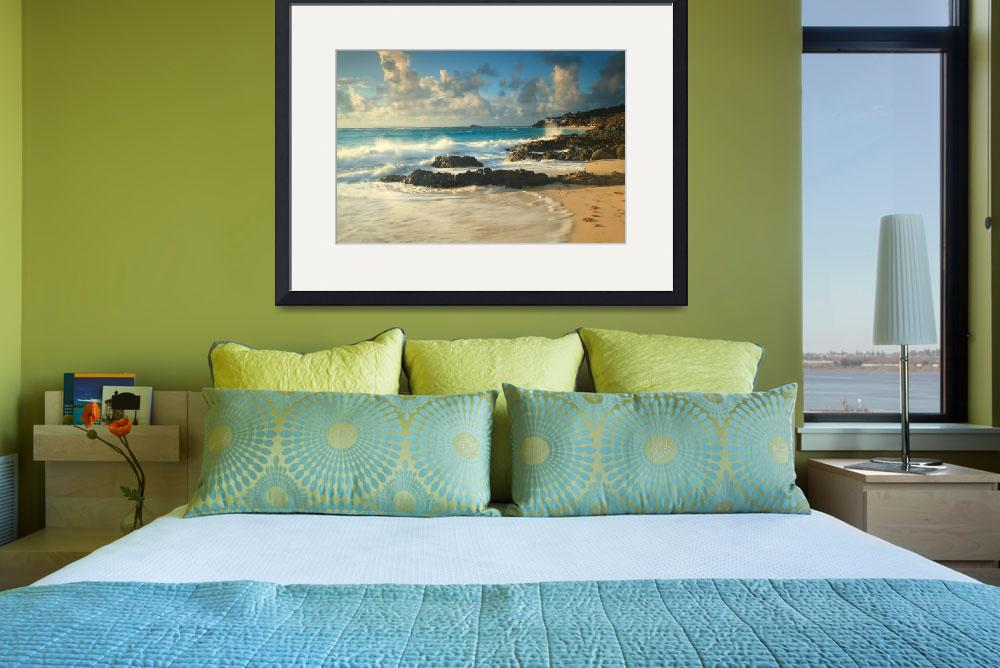 """Dawn Beach Caribbean Seascape, St. Martin&quot  (2013) by RoupenBaker"