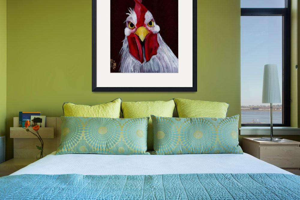 """RU Looking at Me - Angry White Rooster&quot  (2007) by artchiz"
