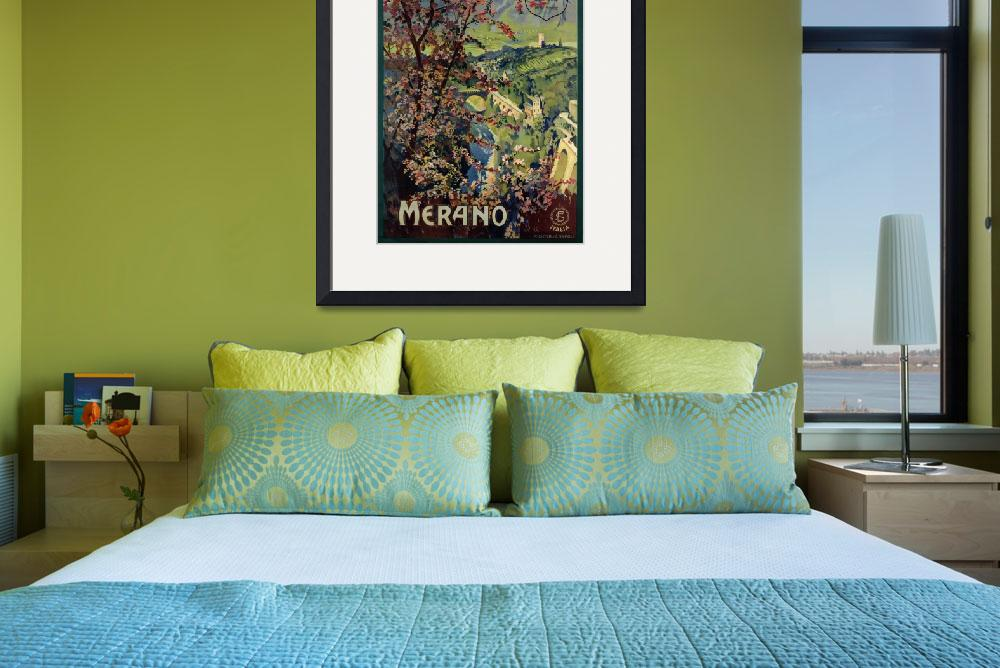 """Poster of Merano, printed by Richter&quot  by fineartmasters"