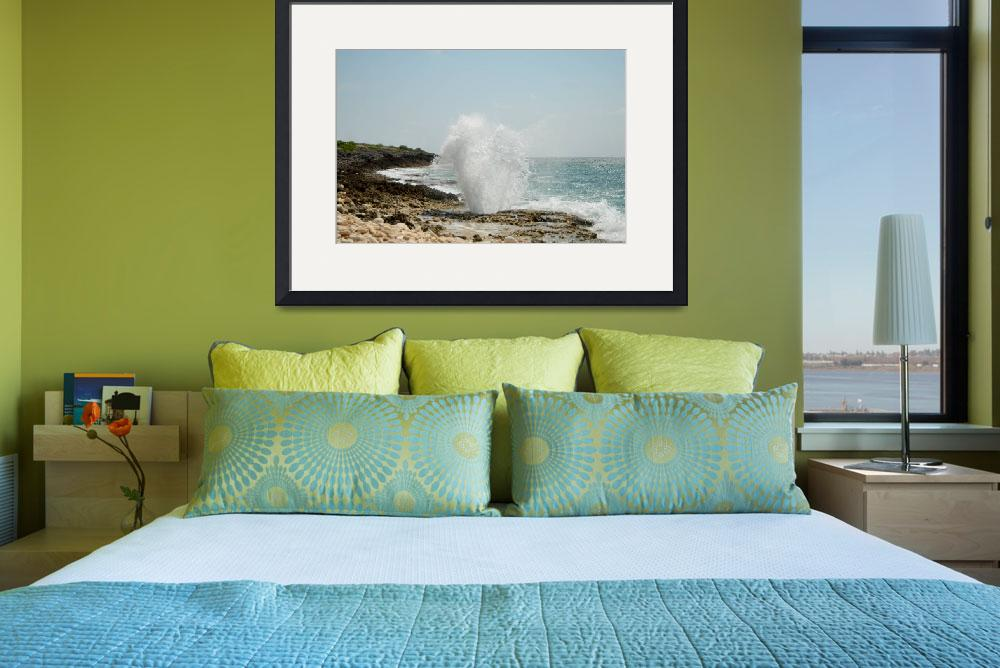"""Cayman Islands Famous East End Blow Holes&quot  by RonScott"