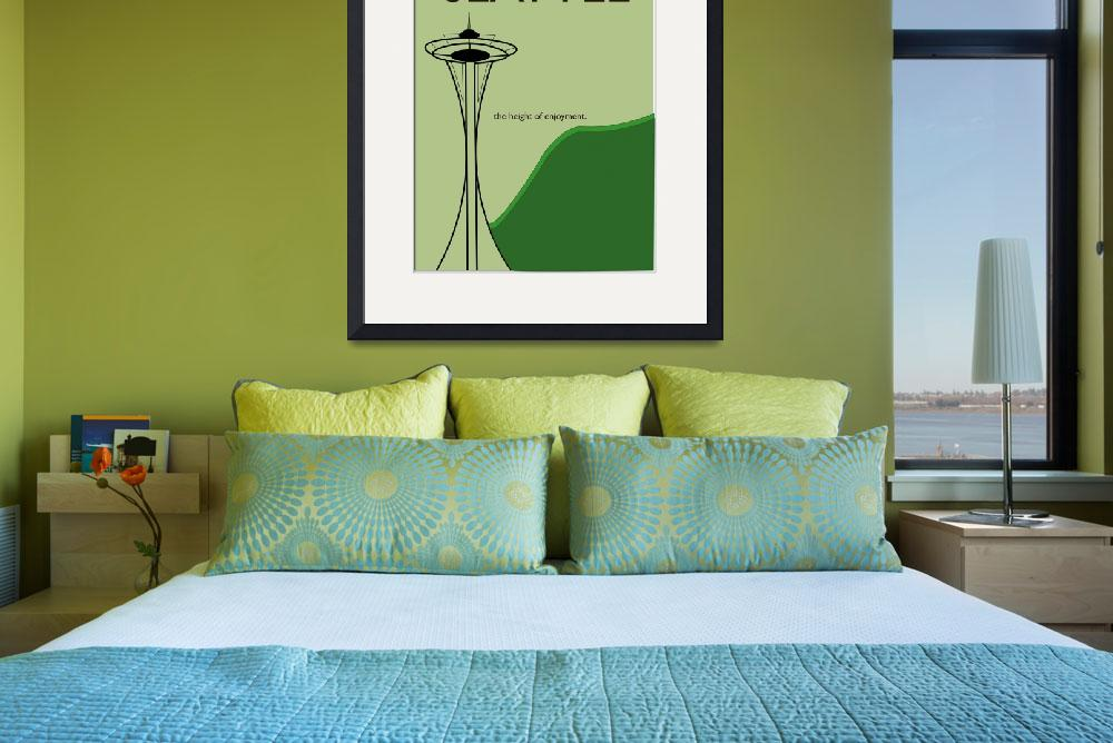 """Seattle Travel Poster&quot  (2009) by bradleyhuff"