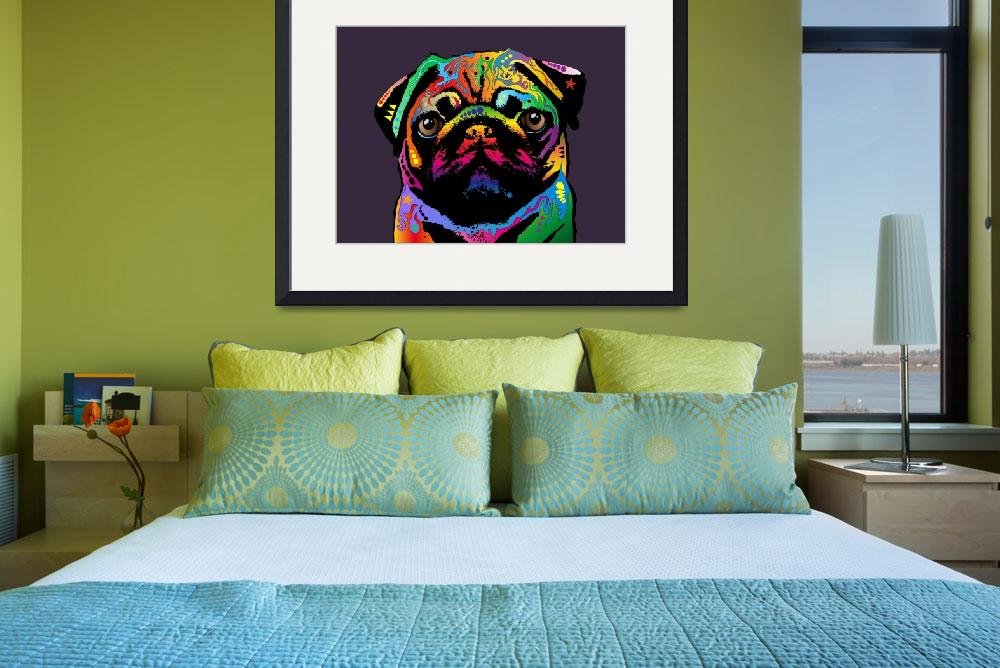 """Pug Dog&quot  (2011) by ModernArtPrints"