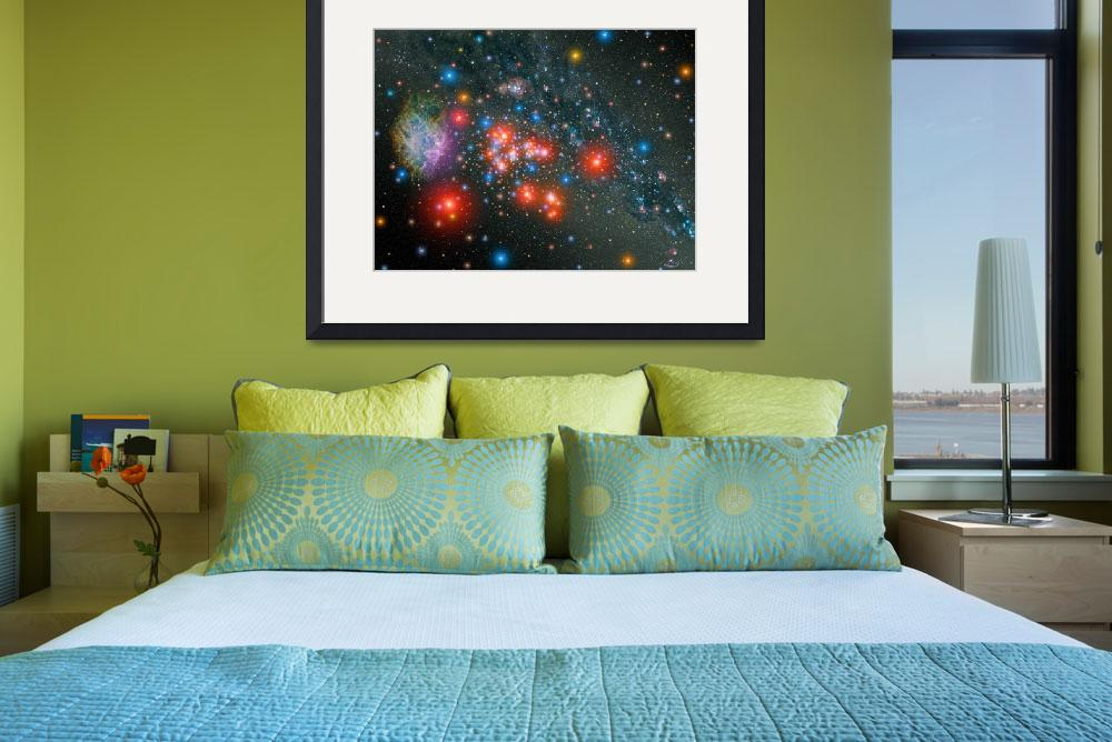 """Red Super Giant Cluster with Supernova Remnant.&quot  by stocktrekimages"