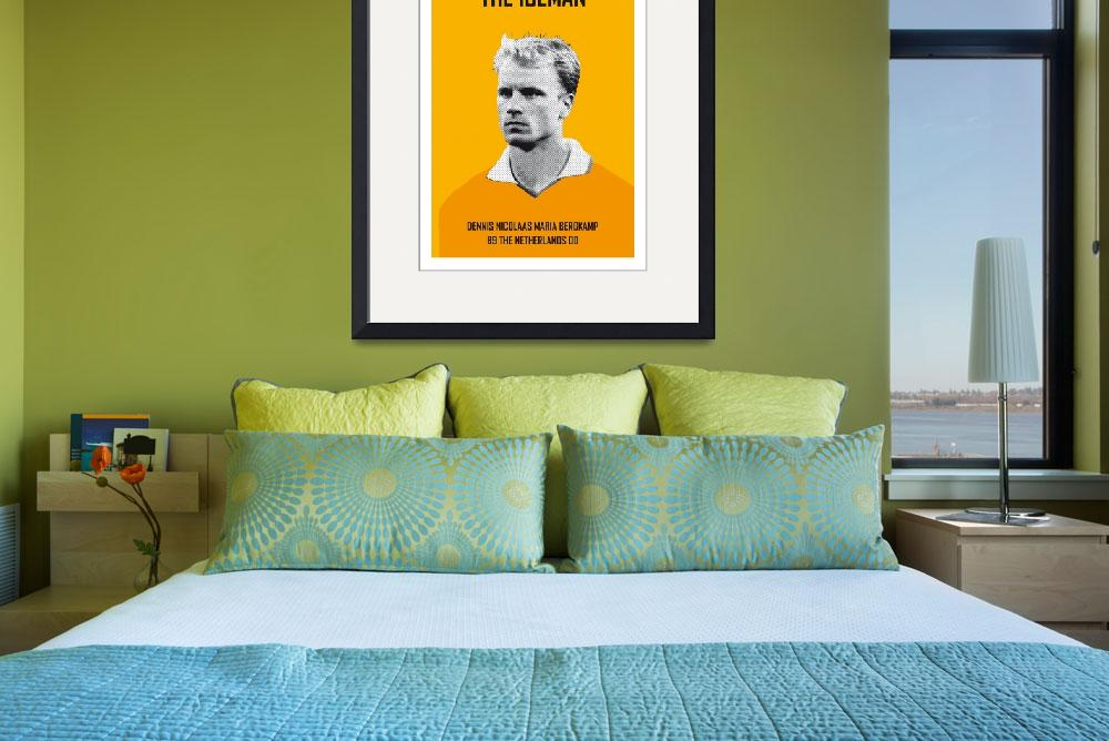 """My Bergkamp soccer legend poster&quot  by Chungkong"