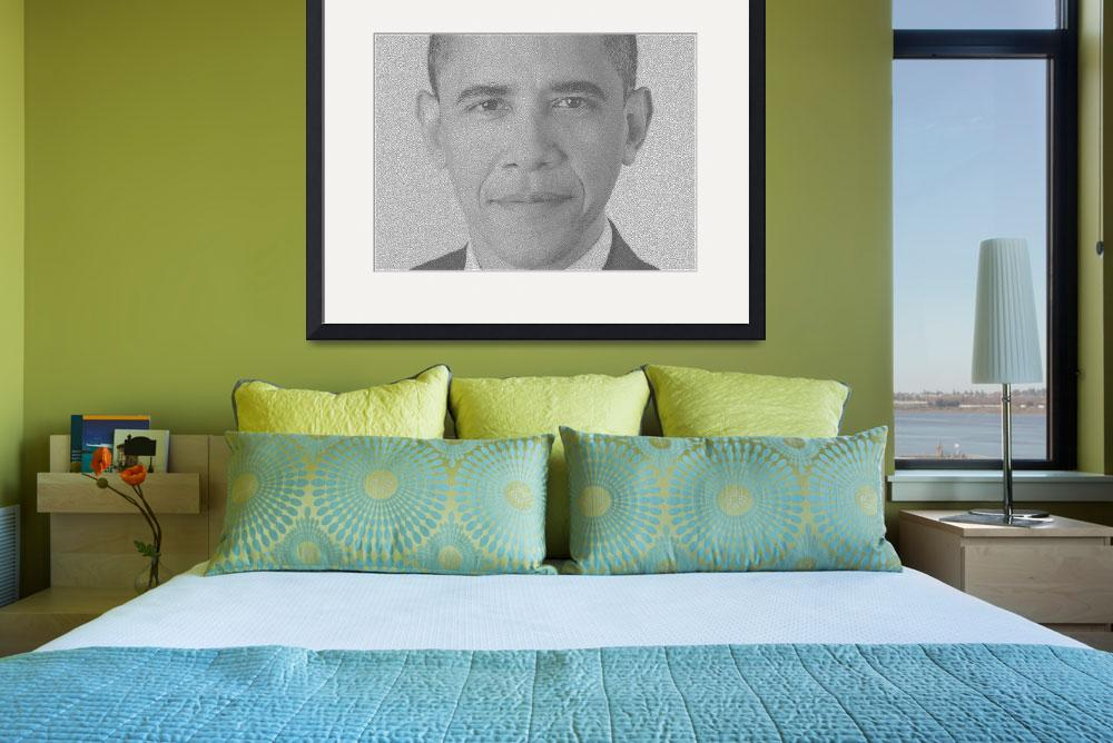 """Barack Obama Reaction and Diffusion Pattern&quot  (2012) by sam_ng"