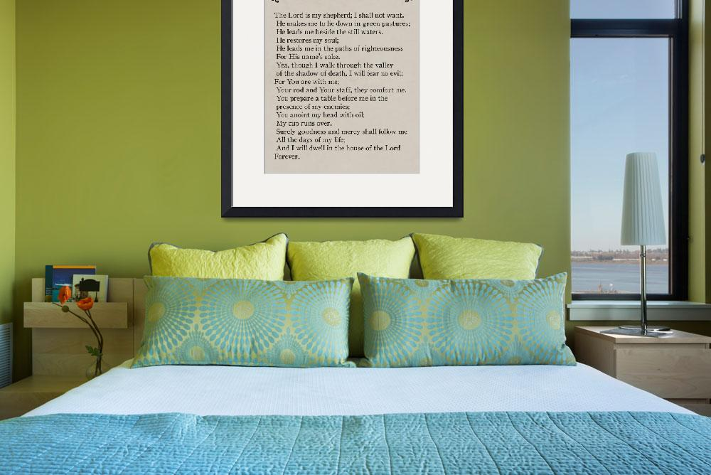 """Psalm 23-Bible Verse Wall Art Collection&quot  (2015) by MarkLawrence"