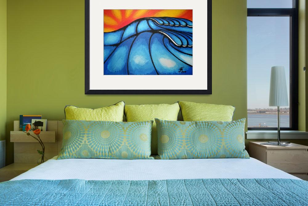 """Waves in Sunrise&quot  (2010) by surfprints"