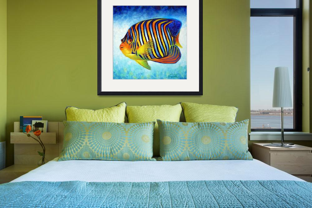 """Royal Angelfish&quot  (2010) by nancytilles"