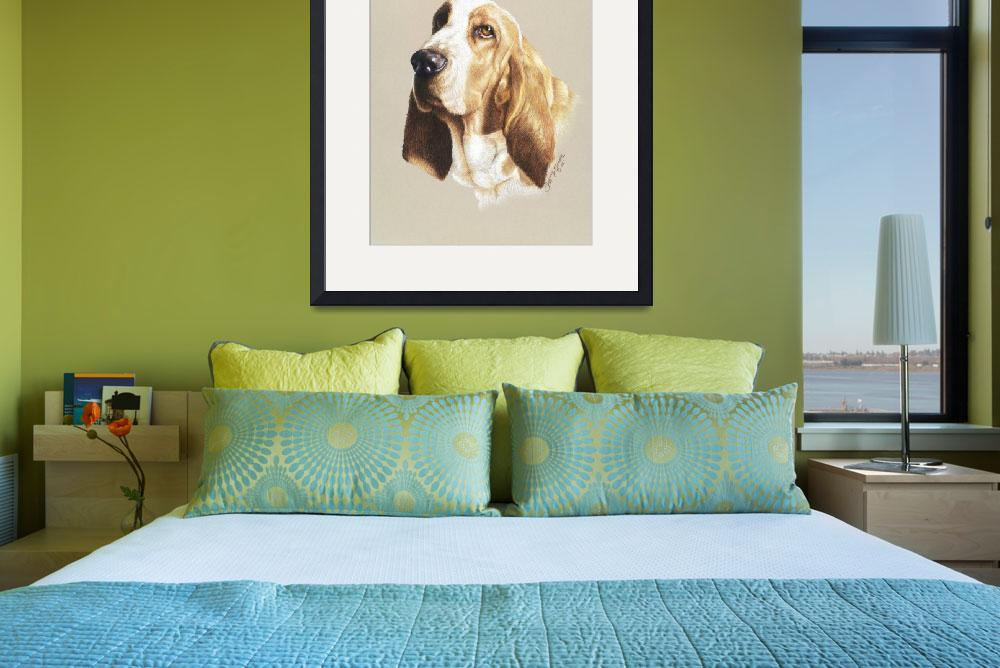 """Basset Hound Study&quot  (2006) by tiffanybeaneartist"