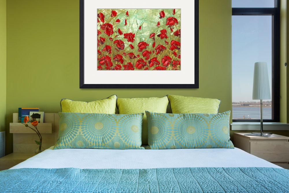 """Red Poppies&quot  (2010) by modernhouseart"
