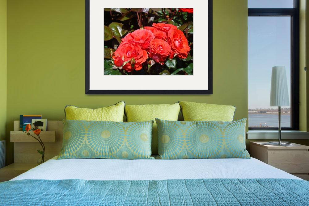 """Rose Bouquet Orange Floral Art prints Photography&quot  (2013) by BasleeTroutman"