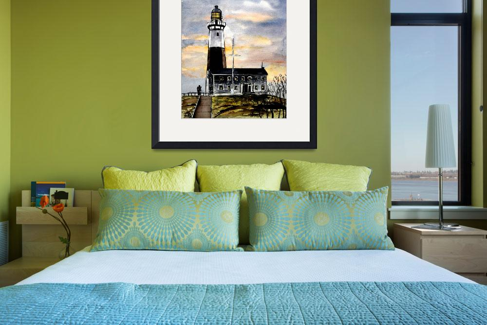 """montauk point lighthouse new york art&quot  (2008) by derekmccrea"