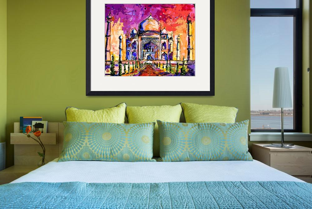 """Taj Mahal India Temple Mixed Media Art&quot  (2012) by GinetteCallaway"