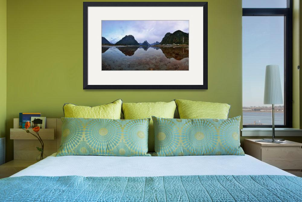 """Milford Sound Panorama&quot  (2013) by AriefRasa"