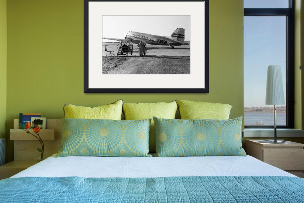 """TWA at Quincy Airport&quot  (1948) by GypsyChicksPhotography"