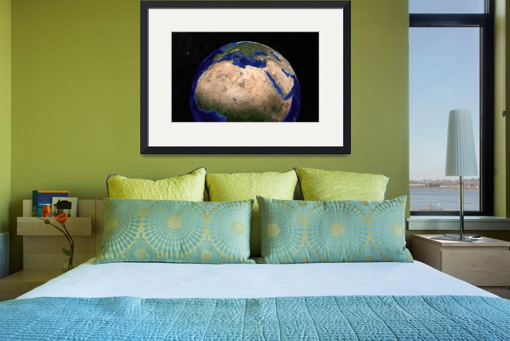 """Blue Marble Earth showing North Africa.&quot  by stocktrekimages"