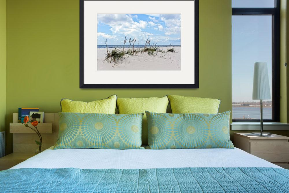 """Sea Oats and Sand Dunes 2&quot  by Lorraine_Sommer"
