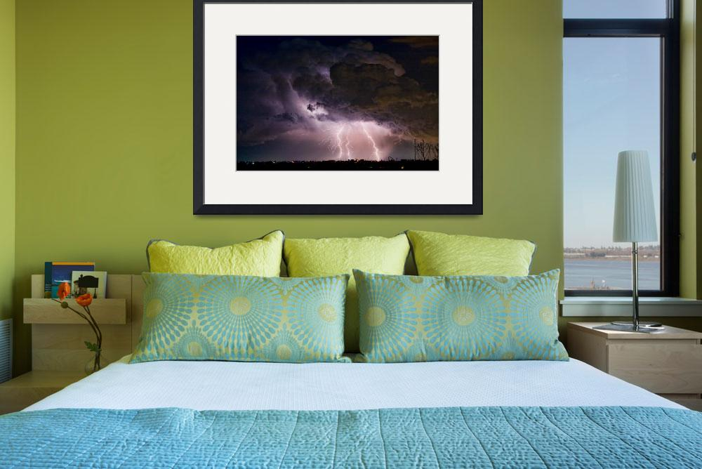 """HWY 52 - HWY 287 Lightning Storm Image 29&quot  (2010) by lightningman"