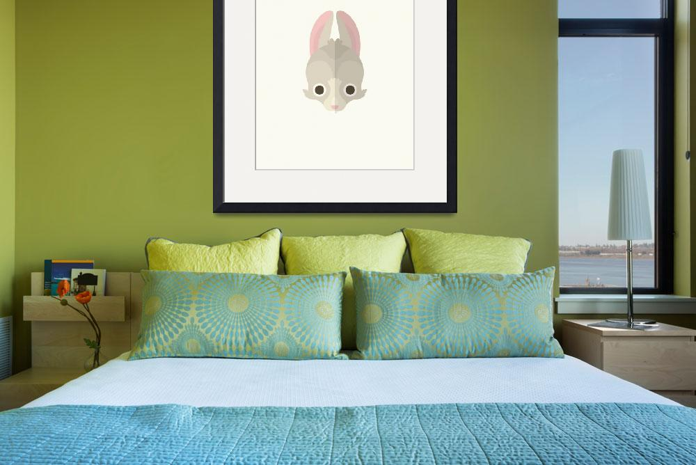 """Rabbit_ArtPrint&quot  by squareinchdesign"