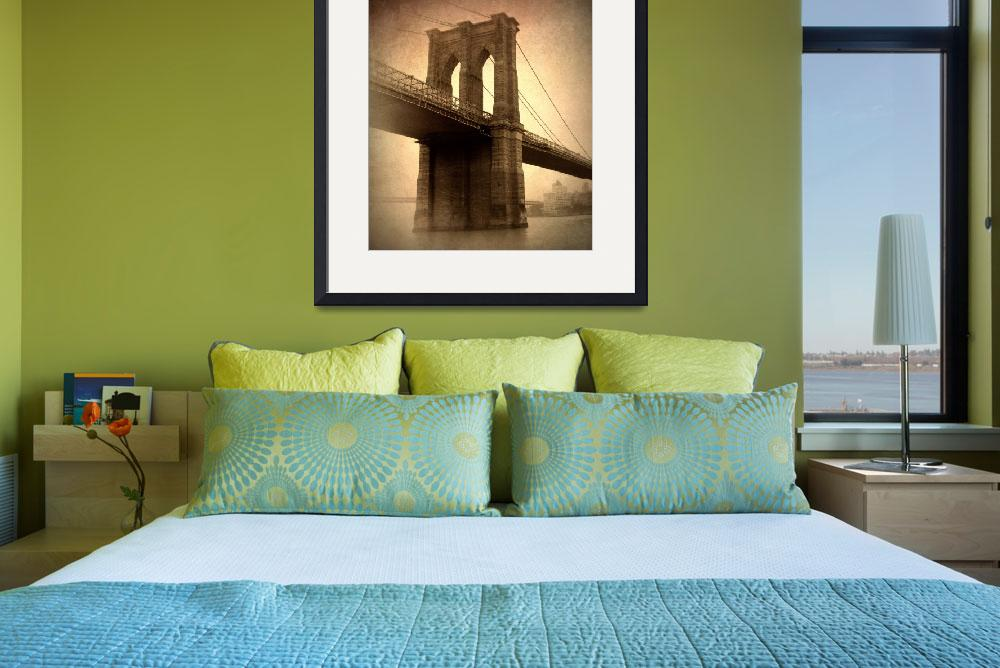 """Brooklyn Bridge Vintage&quot  (2014) by JessicaJenney"