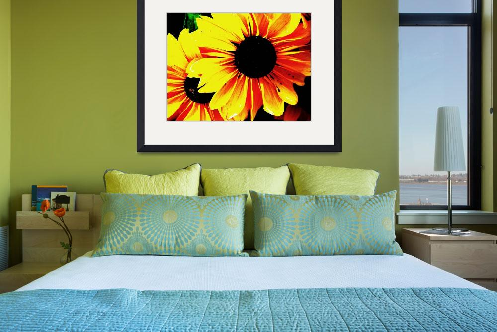 """Black Eyed Susan Pop Art&quot  (2011) by PurpleSkyPhoto"