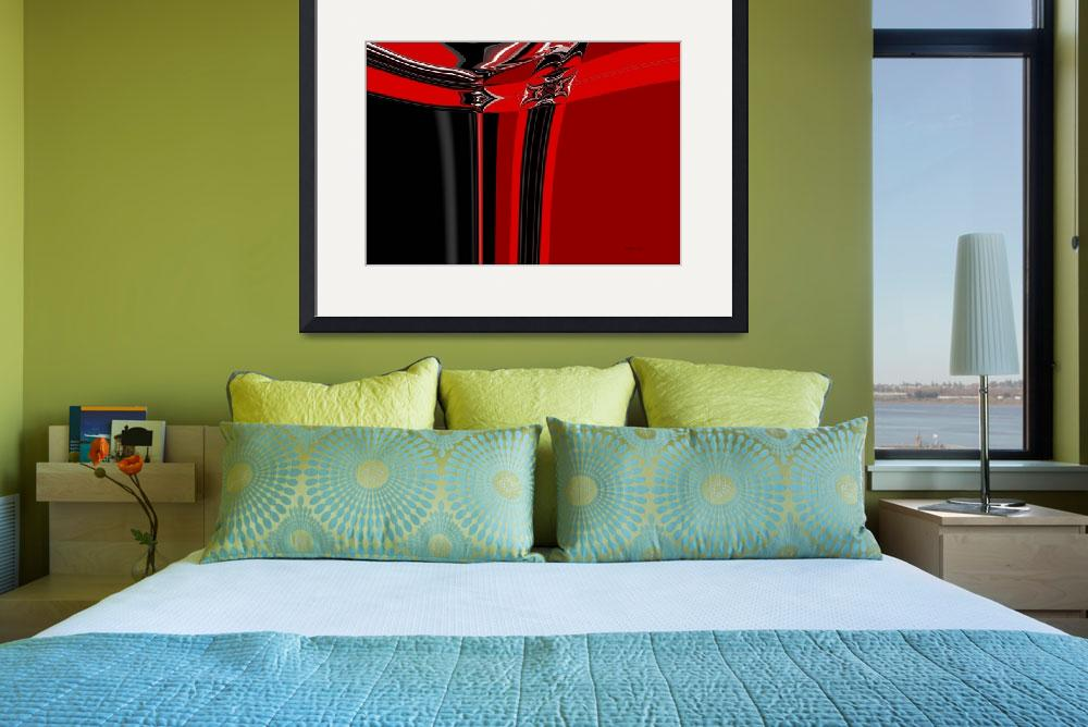 """19-red-black-modern&quot  (2008) by shanmaree"