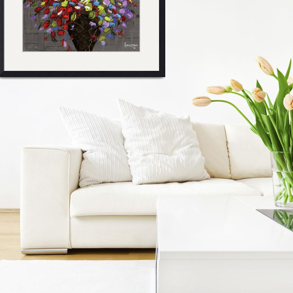"""Multicolor flowers bouquet&quot  (2012) by modernhouseart"