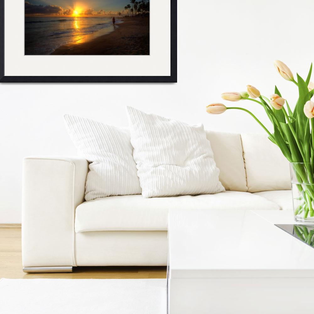 """Walking the beach - Punta Cana, Dominican Republic&quot  (2014) by WaynePhotoGuy"