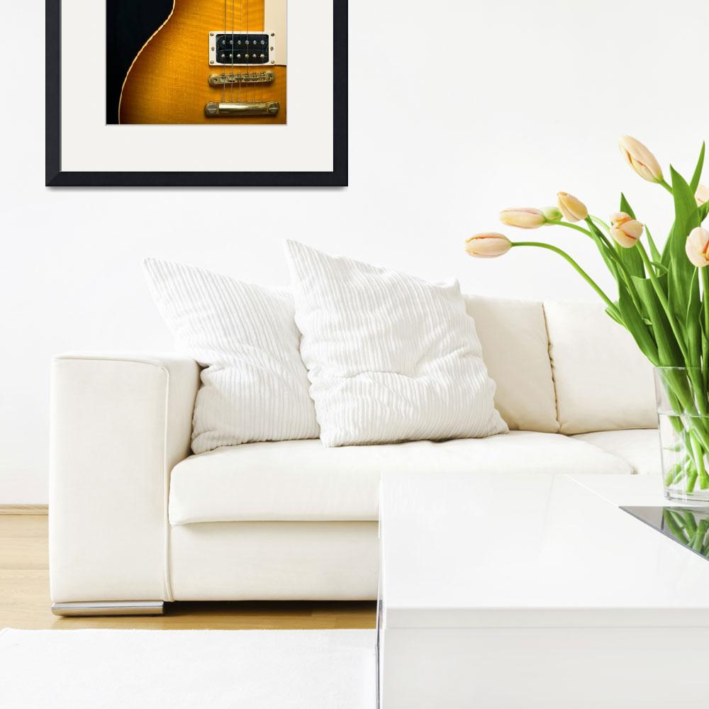 """Classic Rock Guitar with Honey Burst Finish&quot  (2009) by DAPhoto"