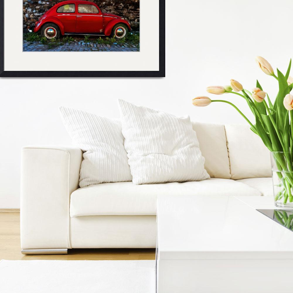 """Red Volkswagen Beetle&quot  (2013) by JohnSloop"