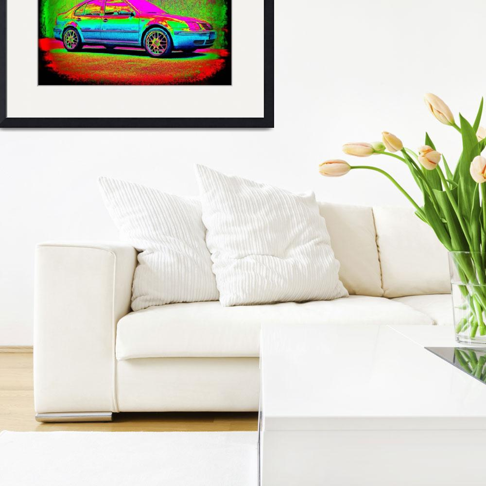 """Technicolor Volkswagen Jetta&quot  (2009) by RegDesigns"