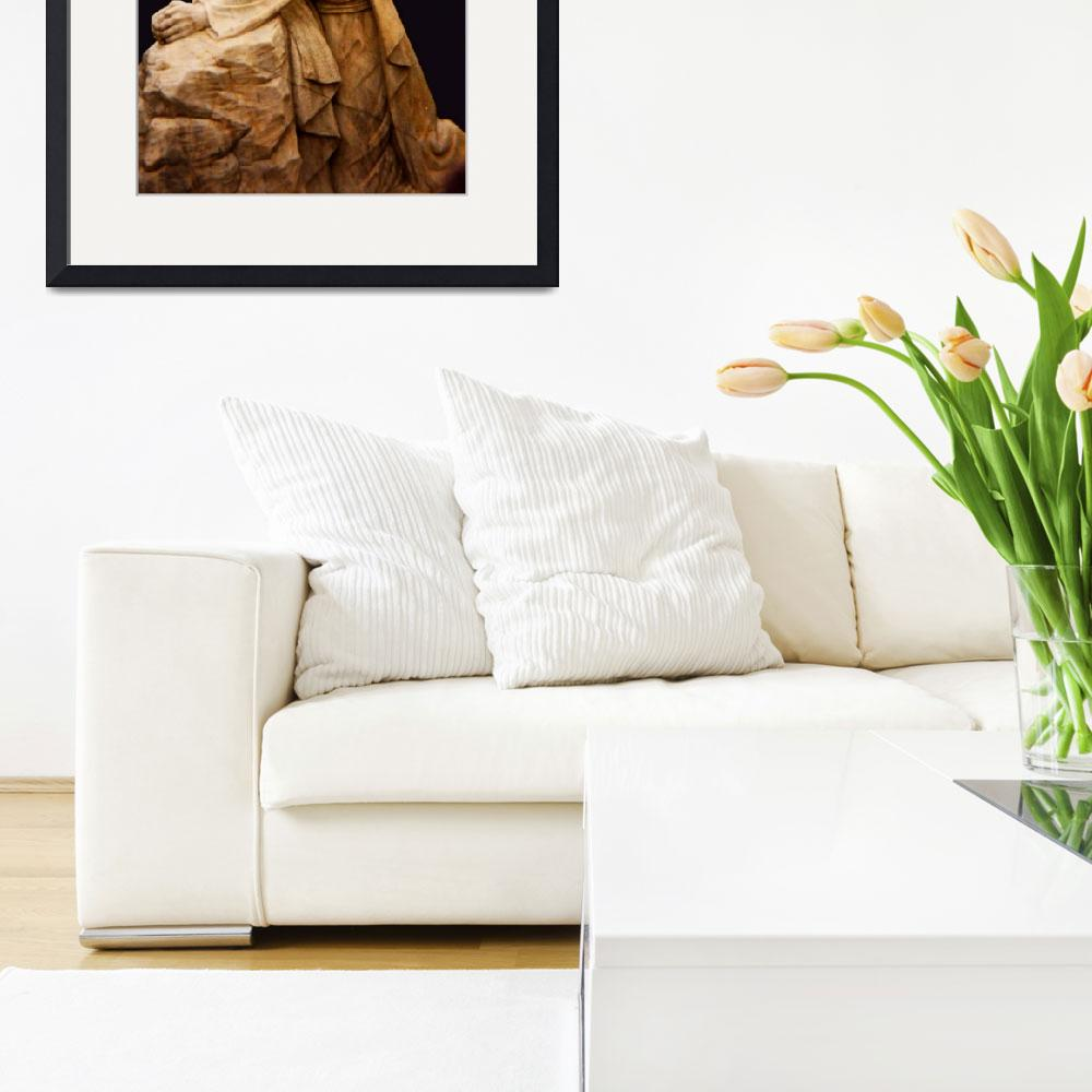 """Statue of Jesus after Icestorm&quot  (1997) by Persuaded"