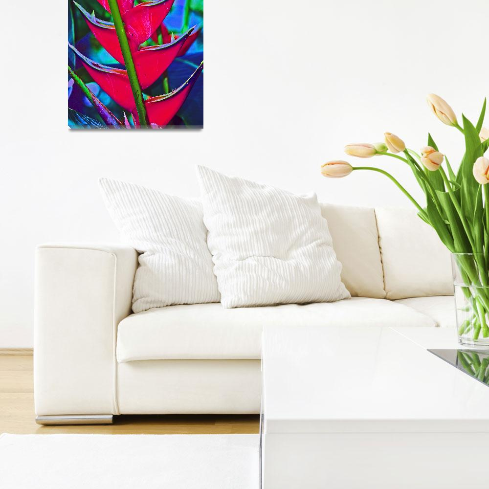"""Heliconia Tropical Flower&quot  (2011) by KsWorldArt"