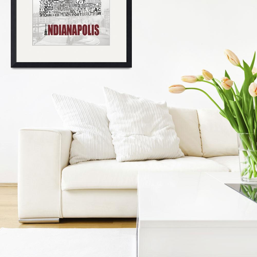"""Indianapolis Neighborhoods - Poster 1&quot  (2010) by RossPhotoWorks"
