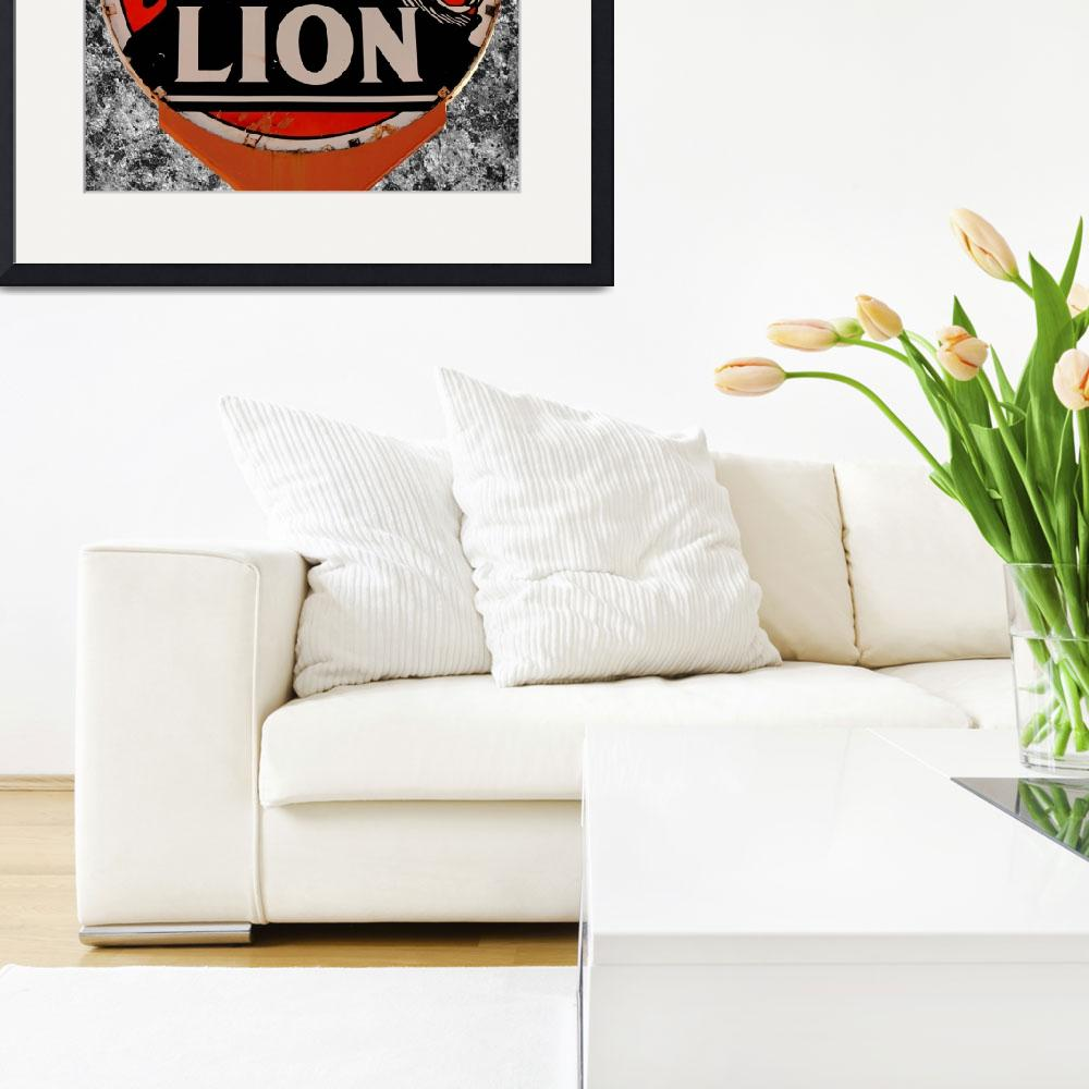 """Vintage Lion Oil Sign&quot  (2012) by bettynorthcutt"
