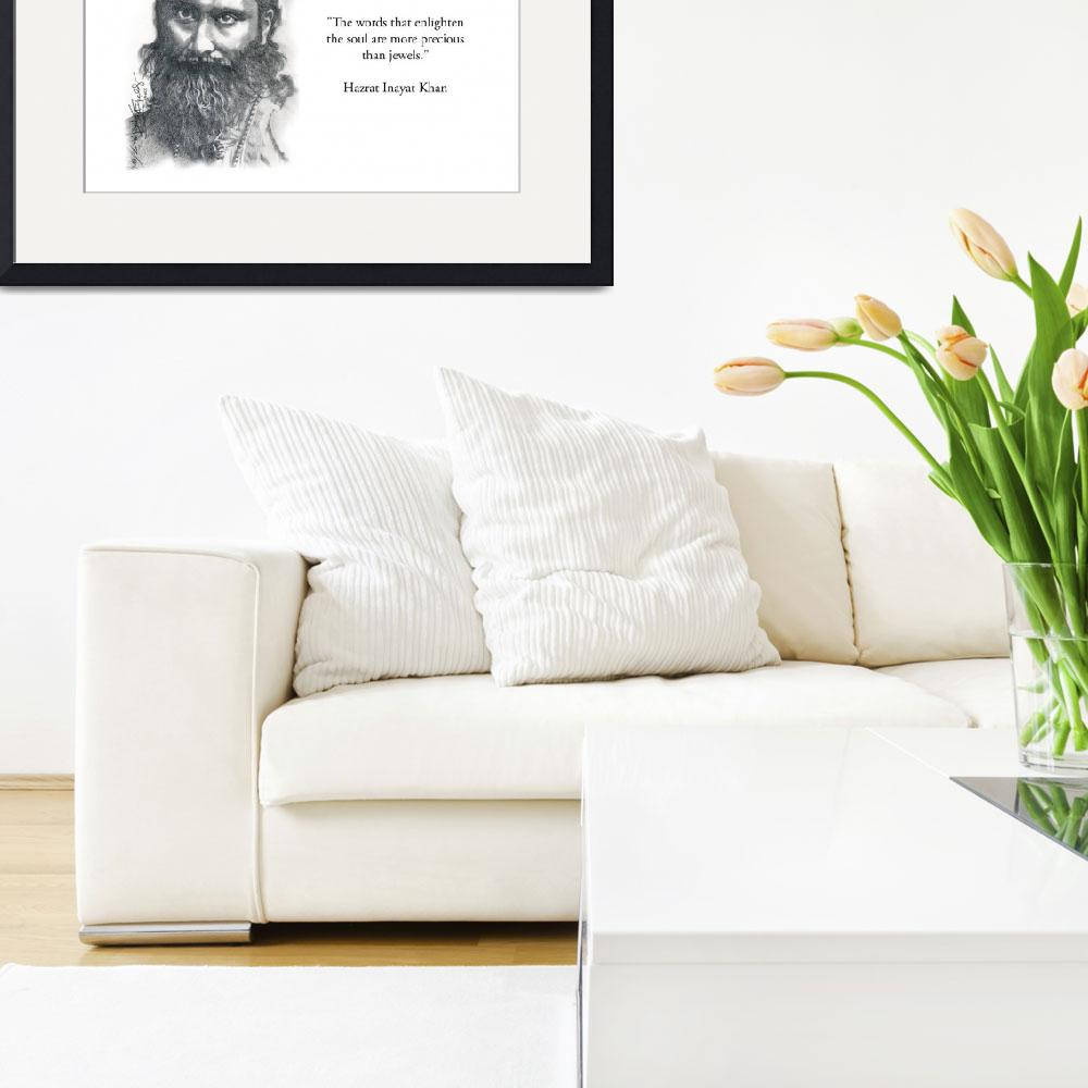 """Inspirational Portrait of Hazrat Inayat Khan&quot  by CreativeArtisticNuance"