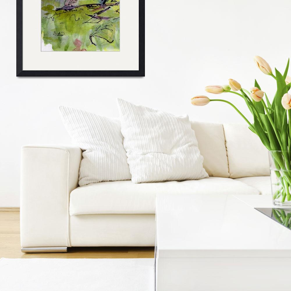 """Modern Floral Lily of the Valley Watercolor&quot  (2014) by GinetteCallaway"