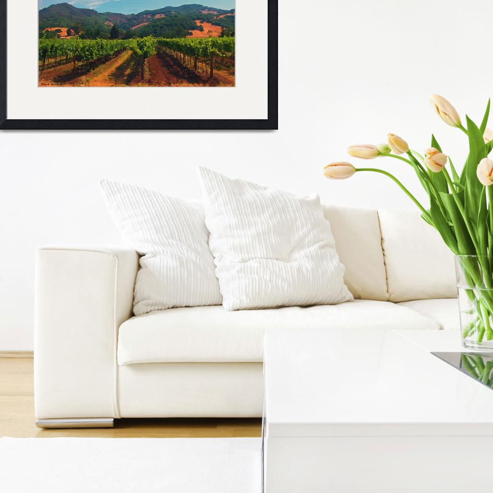 """Californa  Vineyard&quot  (2011) by artstoreroom"