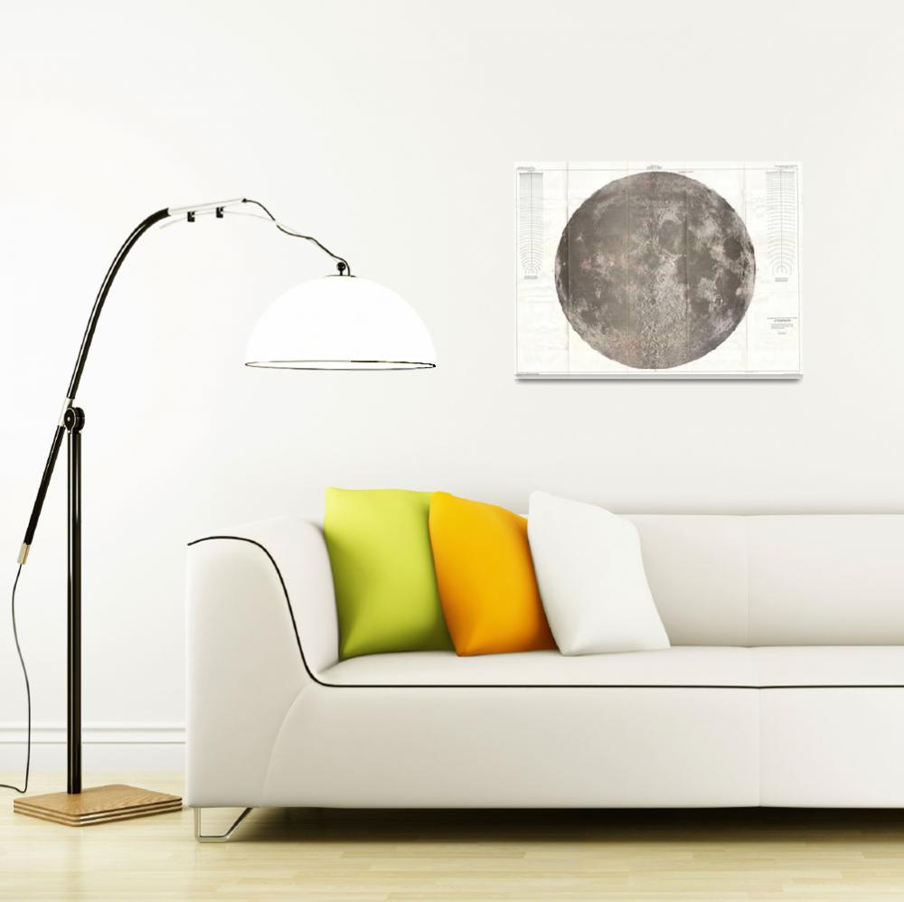 """Vintage Map of The Moon (1961)&quot  by Alleycatshirts"