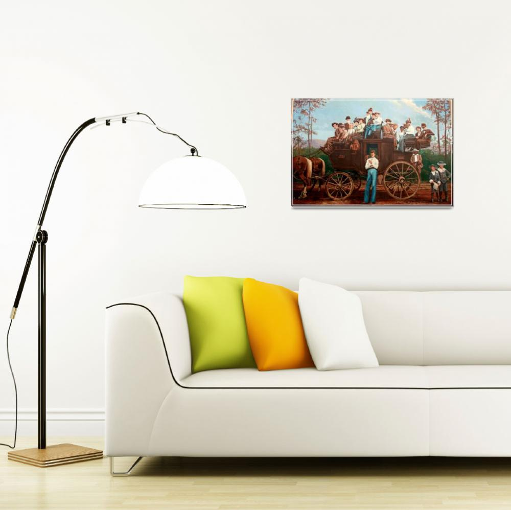 """Western Stagecoach Wall Mural&quot  by sherryswest"
