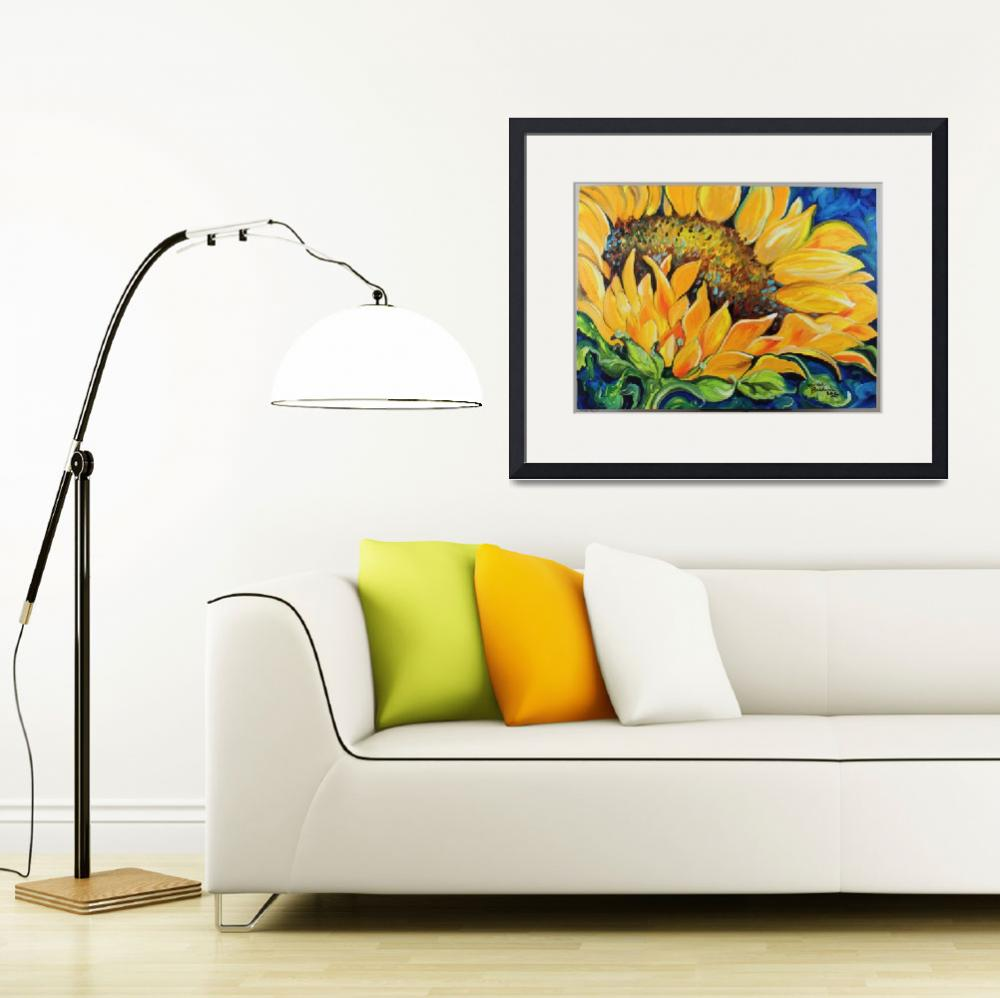 """SUNFLOWER SEPTEMBER&quot  (2012) by MBaldwinFineArt2006"