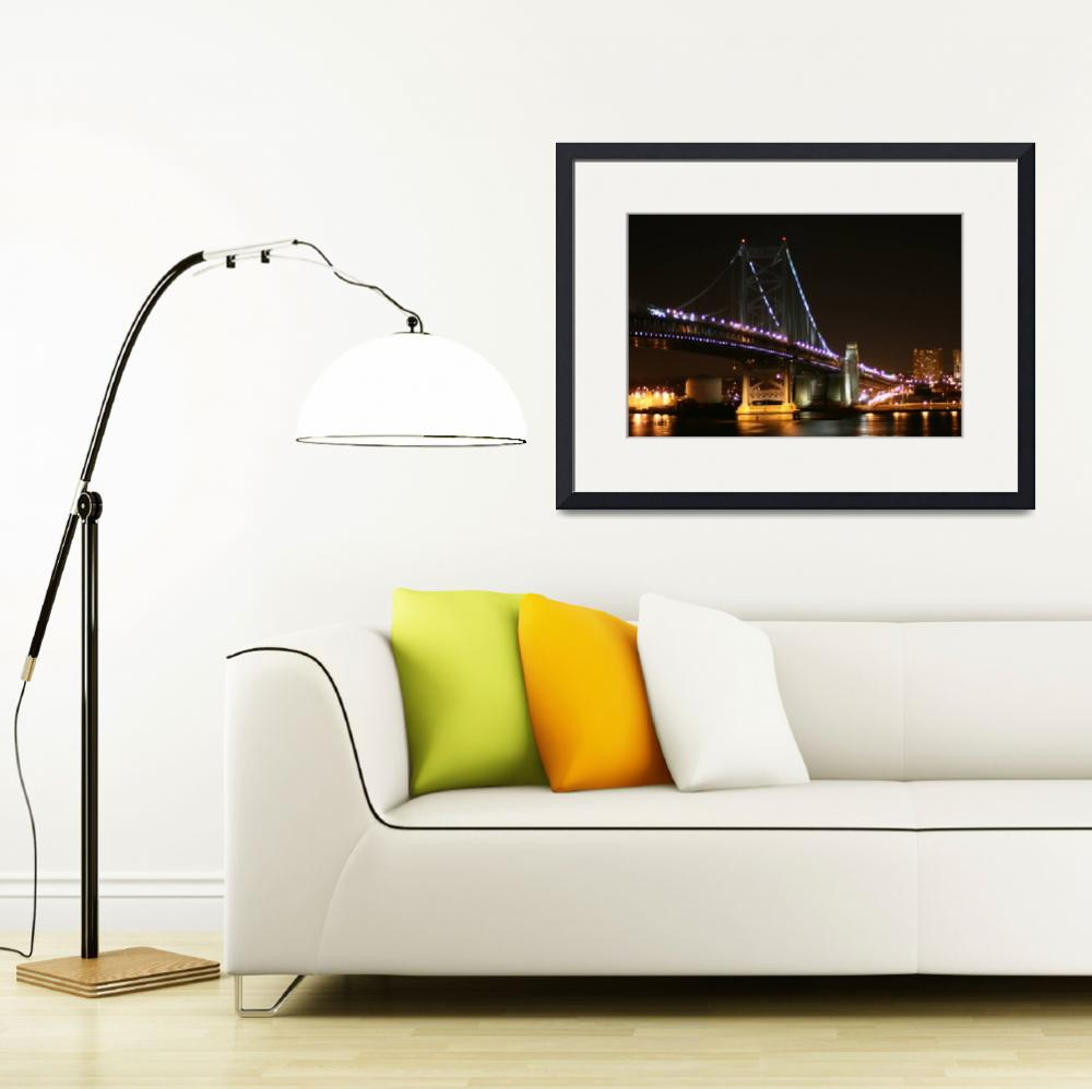 """Benjamin Franklin Bridge, Philadelphia&quot  by MichelleOKane"