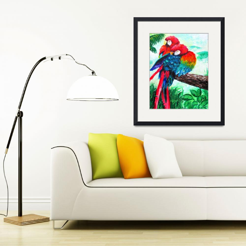 """Scarlet Macaw&quot  (2014) by galina"