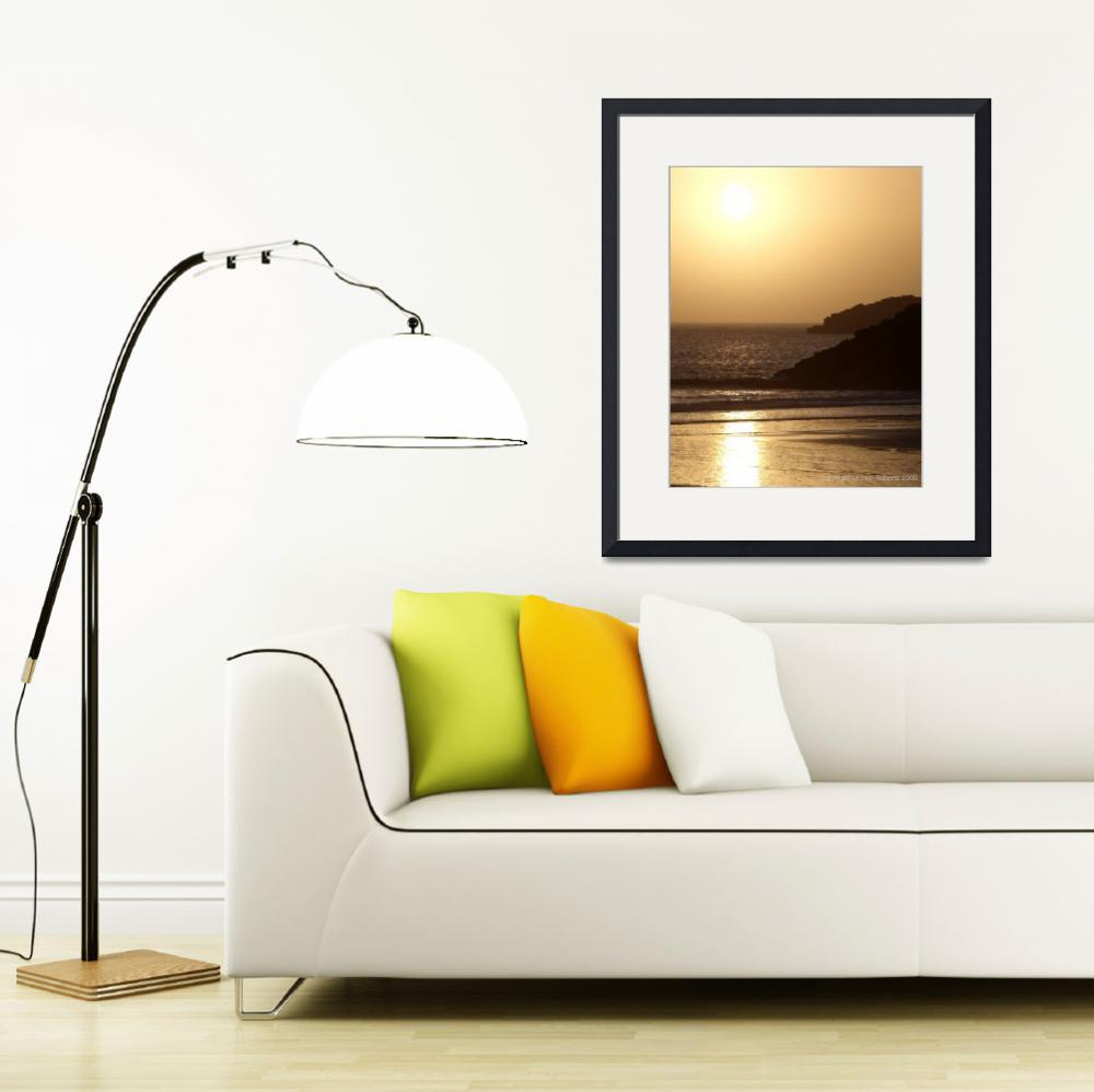 """Sunset, Whitesands Bay&quot  (2009) by leonieroberts"
