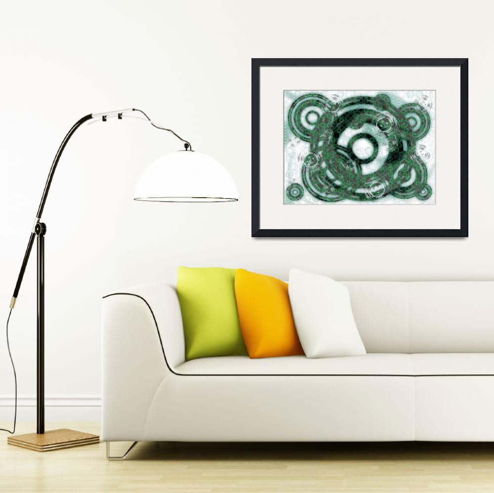 """Abstract Rings - Green&quot  (2013) by ShawnaRowe"