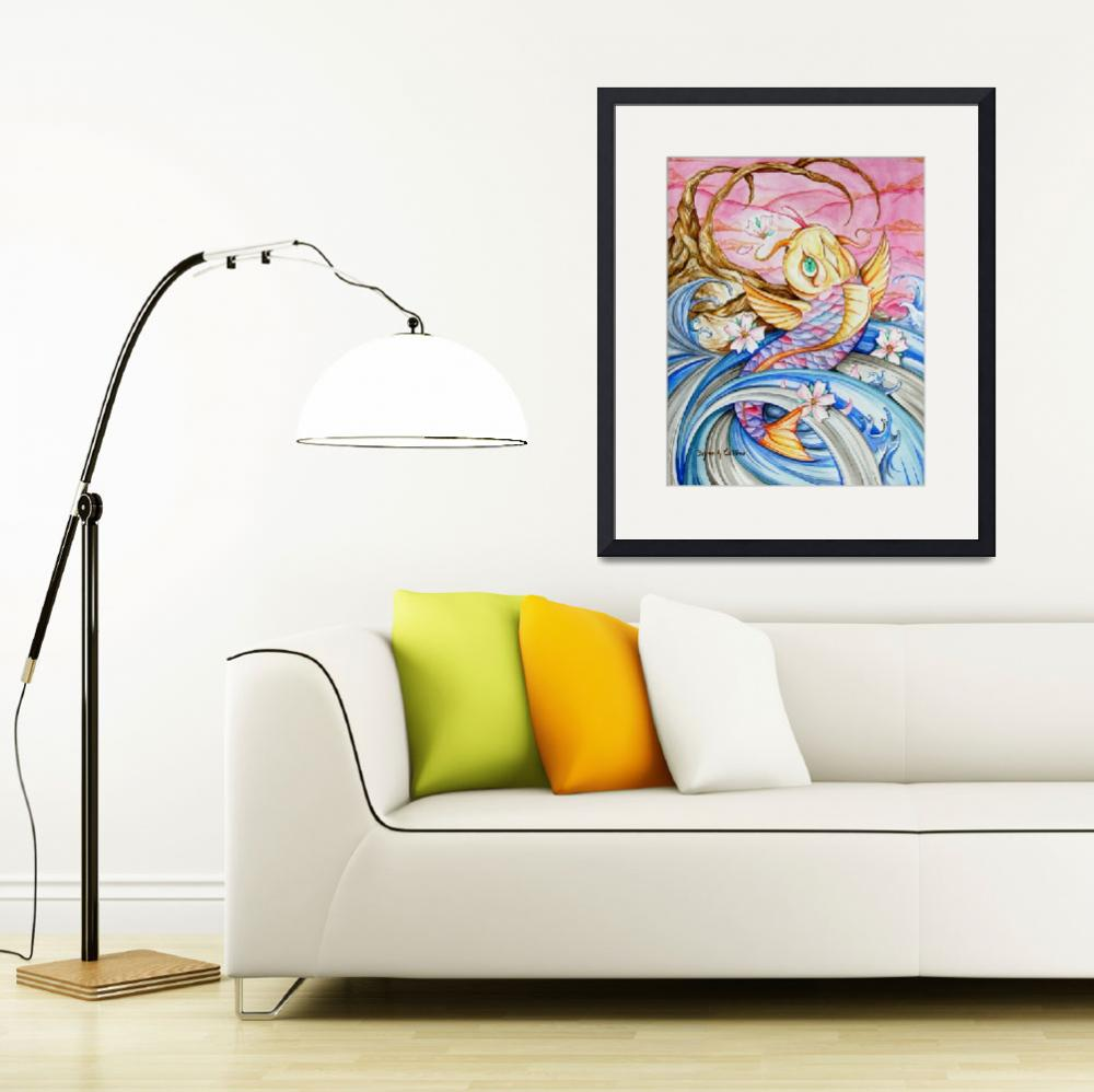 """Watercolor Koi Fish&quot  (2007) by bryanc"