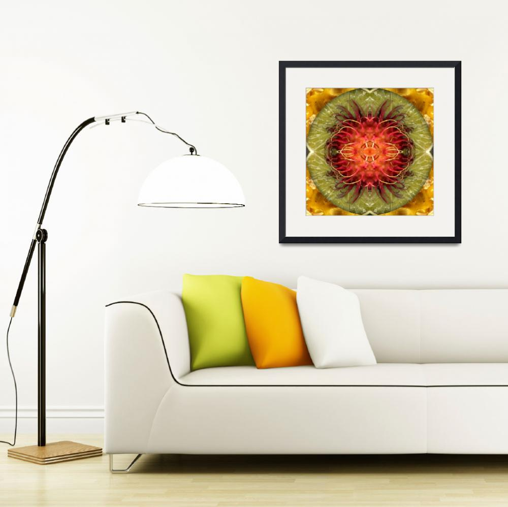 """Fruit mandala - rambutan2&quot  by belinda"